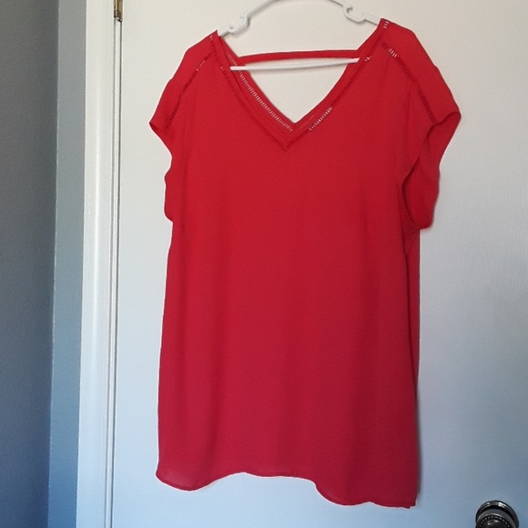 DR2 Tops - RED TOP PLUS SIZE 2X